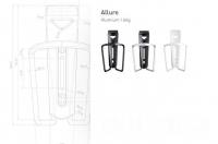 Флягодержатель  Tacx Allure Pro серебрист.